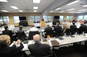 Penn State trustees meet in Scranton on July 13, 2012