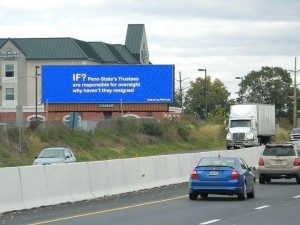 Anti-trustee billboard